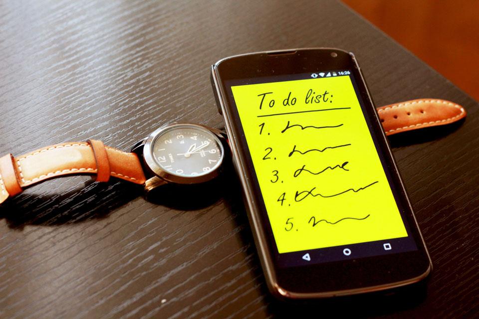 Effektives Arbeiten durch Anlegen einer Liste mit 6 Aufgaben